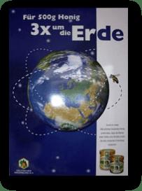 Für 500g Honig 3 x um die Erde